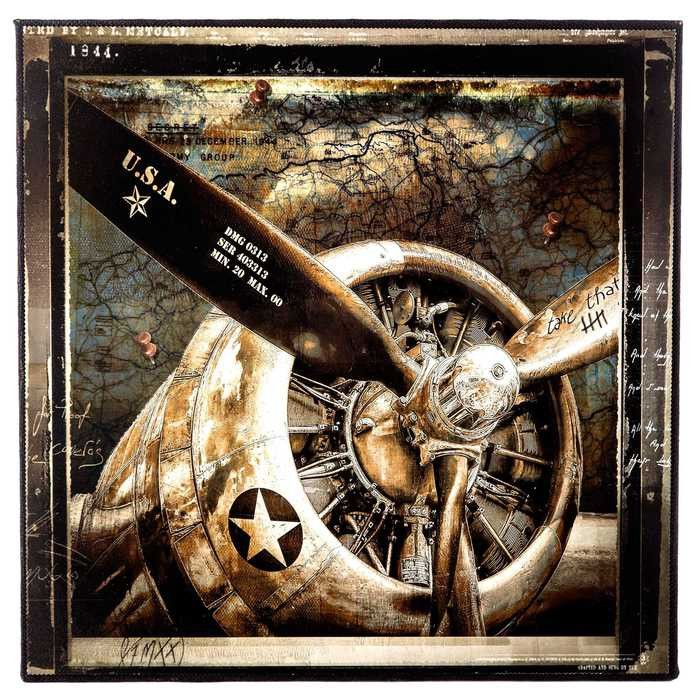 Best Vintage Plane Engine Wall Art For Him Pinterest This Month