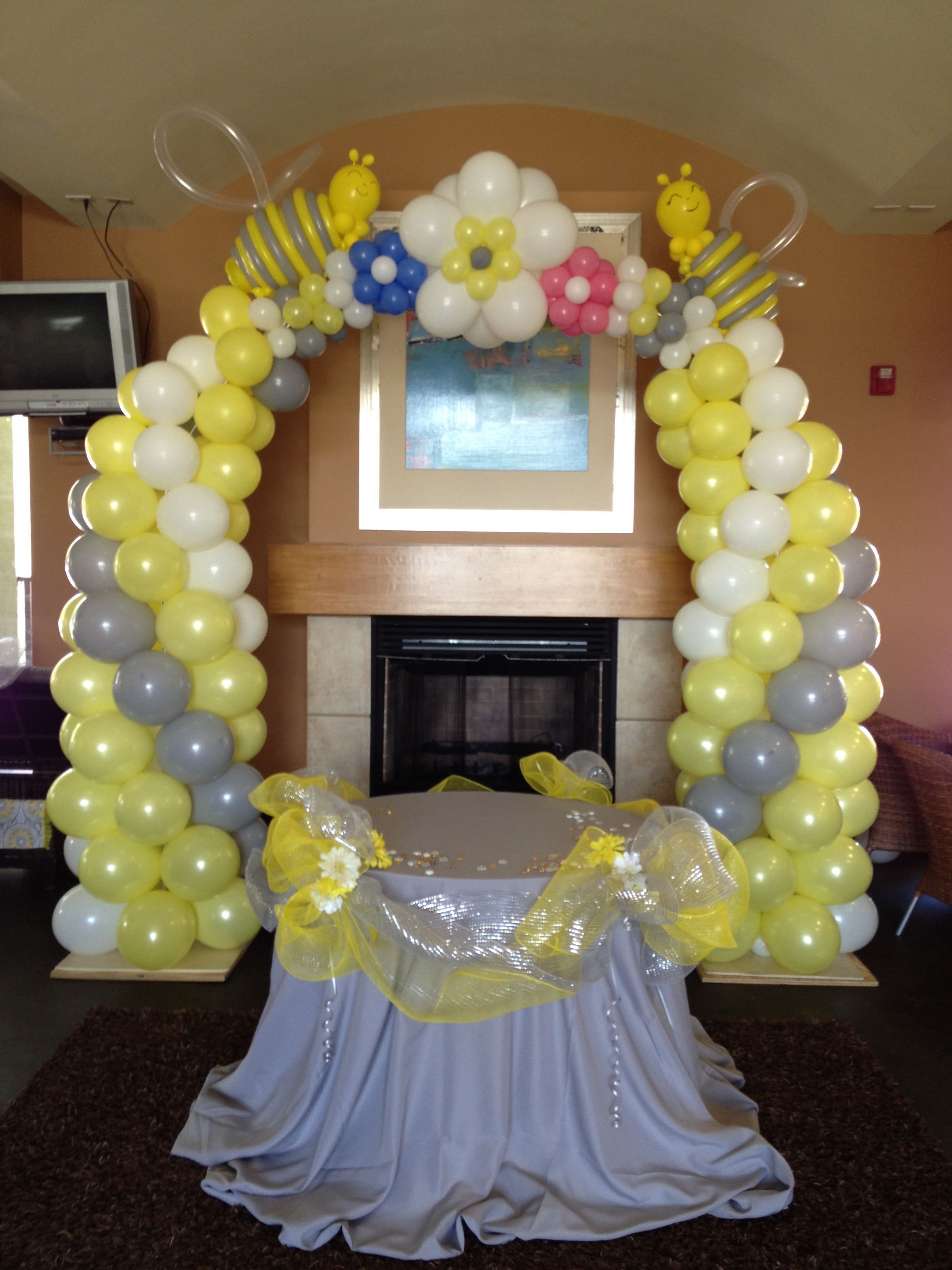 Best Baby Shower Bee Themed Balloon Arch Balloon Decor This Month