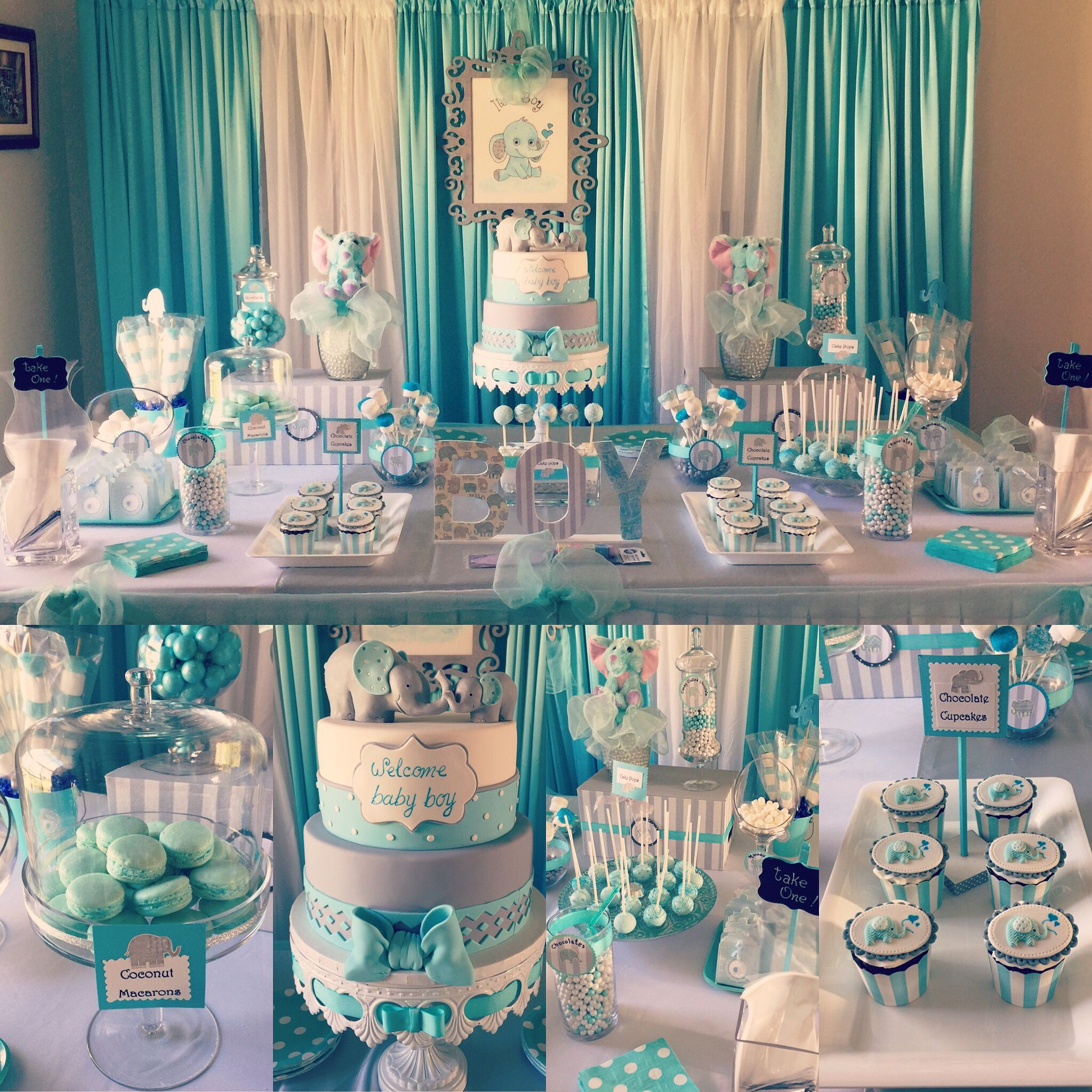 Best Boy Baby Shower Elephant Theme Party Decor Pinterest This Month