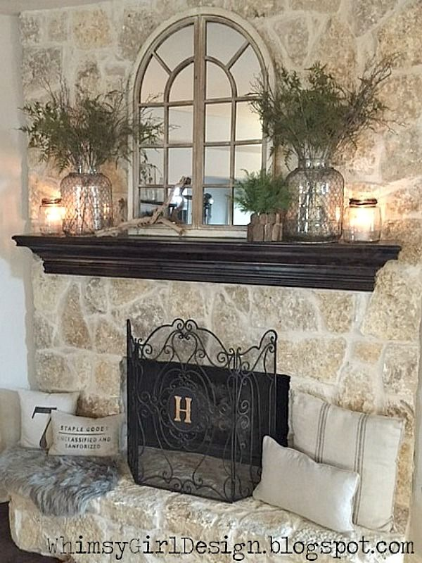 Best Mantle Decorating On Pinterest Summer Mantle Decor This Month