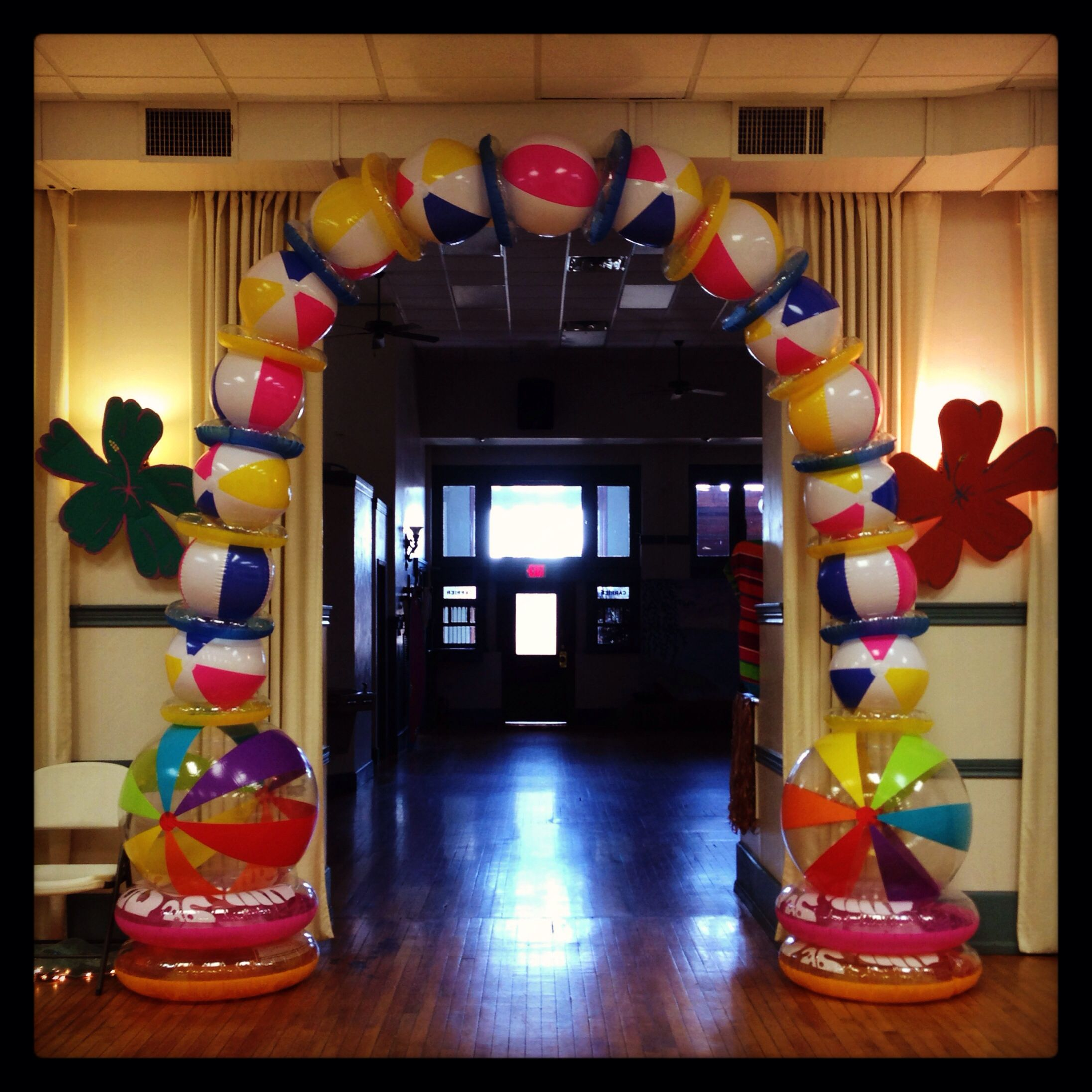 Best Beach Party Luau Decorations Arch Using Beach B*Lls This Month