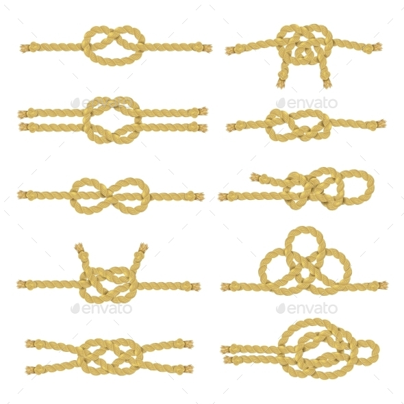 Best Rope Knot Decorative Icon Set By Macrovector Graphicriver This Month