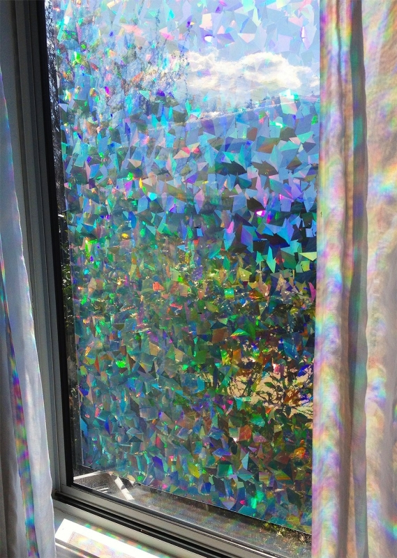 Best Decorative Window Film Holographic Prismatic Etched Glass This Month