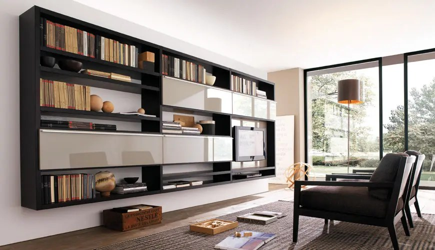 Best 20 Modern Living Room Wall Units For Book Storage From This Month