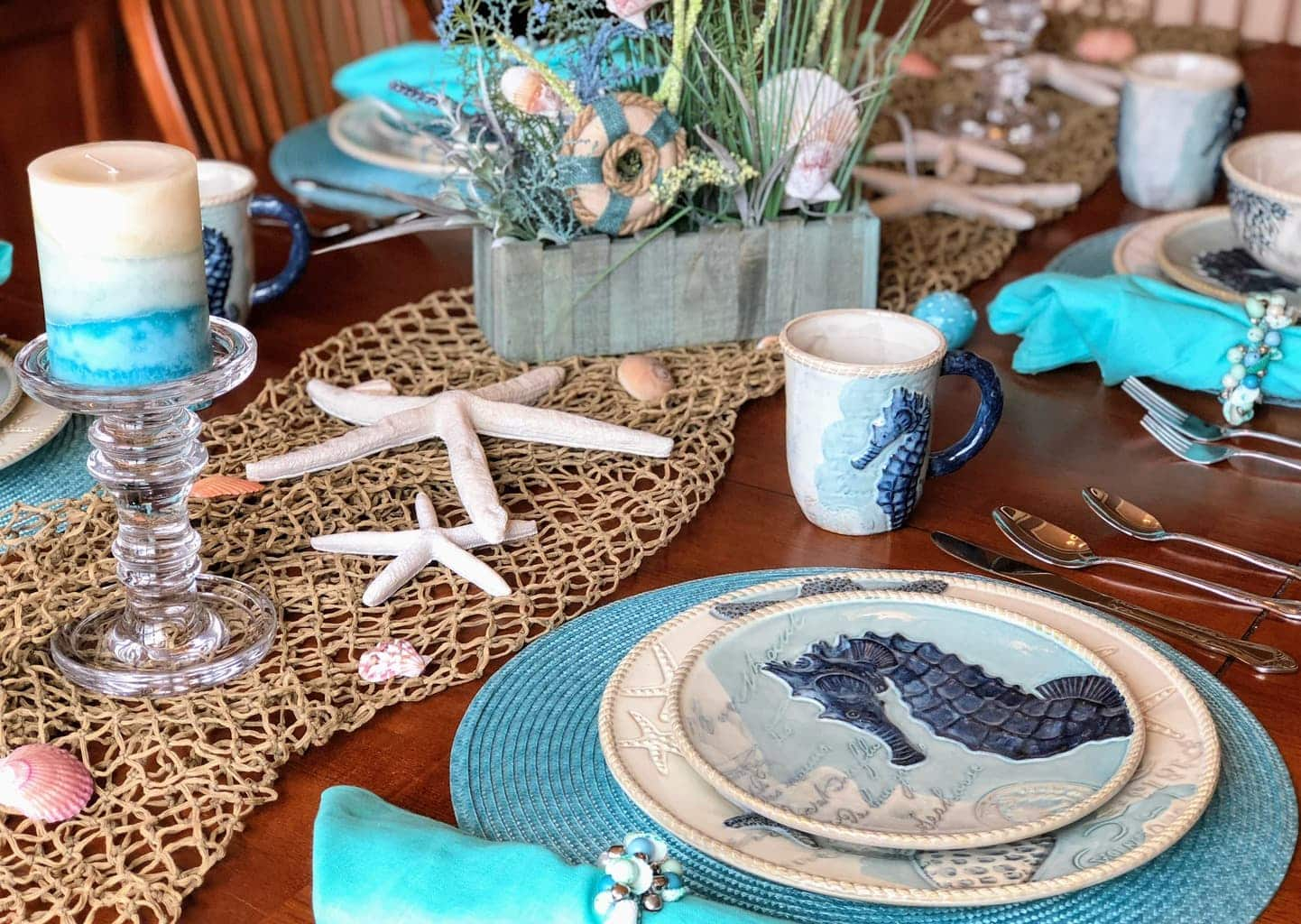 Best Coastal Table Decor Ideas Perfect Beach Theme Dinnerware This Month