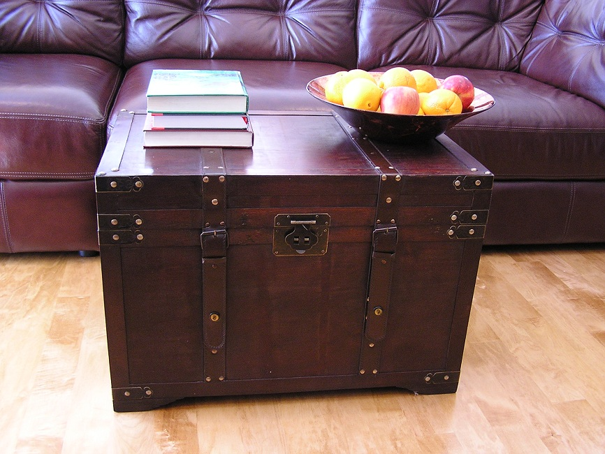 Best Gold Rush Large Wood Storage Trunk Wooden Hope Chest Ebay This Month