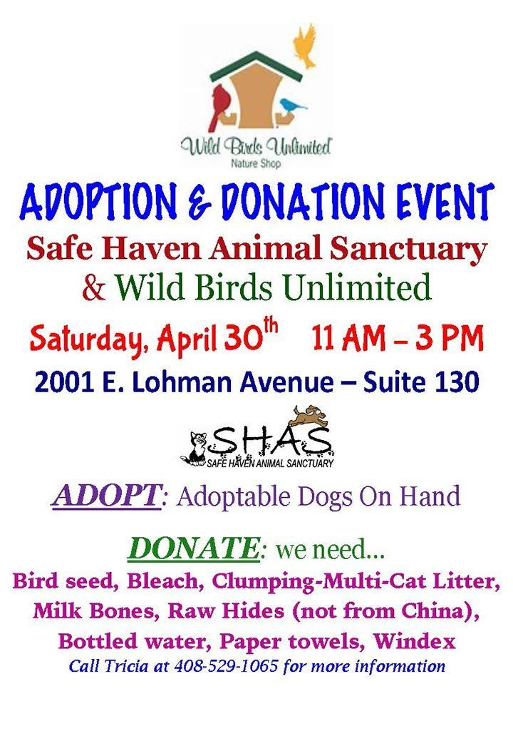 SHAS & Wild Birds Unlimited Adoption Event