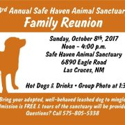 Safe Haven Animal Sanctuary to Hold Annual Open House and Adopter Reunion October 8th