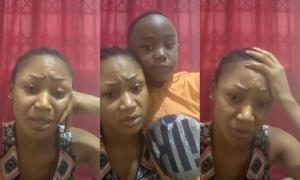 """Forgive My Mom"" – Akuapem Poloo's Son Cries With Her In Latest Video"