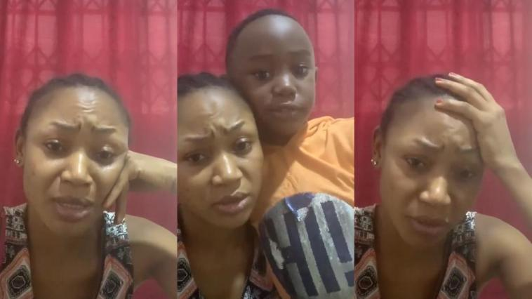 """""""Forgive My Mom"""" – Akuapem Poloo's Son Cries With Her In Latest Video"""