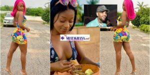 """""""My Boyfriend Is Better Than Chris Brown"""" – Efia Odo Claims As She Goes Half-N@ket In New Photos"""