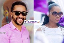 Photo of WATCH: Majid Michel's beautiful wife mistakenly shows her 'raw pie' in husband's live video in the room