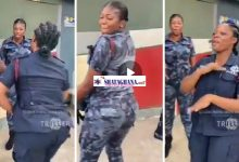 Photo of Beautiful Police Officers Shakes Their Ass As They Dance To John Mahama's Campaign Song