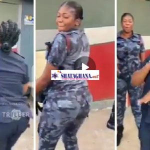 Beautiful Police Officers Shakes Their Ass As They Dance To John Mahama's Campaign Song