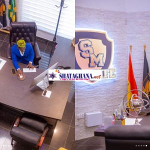 Photos: Shatta Wale put his Luxurious office on Display