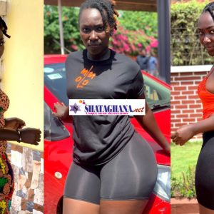 Photos of Shatta's Girl And Ebony's Lookalike With Huge Backside Causes Confusion