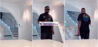 Millionaire Rapper Sarkodie puts his all-white livingroom on display (video)