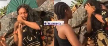 Lady Disgraces Slay Queen With Hot Slaps For Dating Her Father In Benin (Watch Video)
