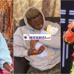Medikal drops first photos of their daughter Island Frimpong-Fella reacts