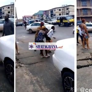 Beautiful Girl runs mad after dropping from a guy's Benz car