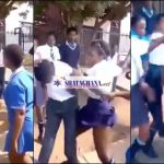 Video: 5 SHS Girls Beat The Hell Out Of Their Classmate For Cheating On Them