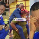 'Crazy' deliverance as woman carries Obinim at her back like a baby to heal her waist pain (photos)