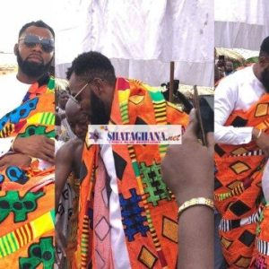 Couple Goal: Rev Obofour And Bofowaa Enstooled As Aboafuohene And Aboafuohemaa At Tepa – Video