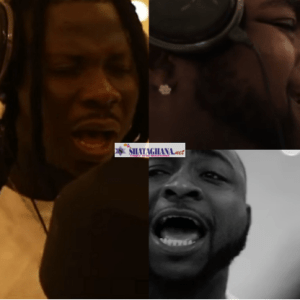 Watch The Studio Session Of Stonebwoy And Davido's New Song