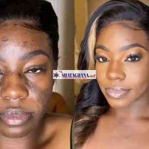 The incredible transformation of a woman with a rough face has reinforced the significance of makeup to women and how it has become indispensable for them in their modern world. This is why some men don't know the 'real face' of their women because they all padded up by the power of makeup. The video of this massive transformation is trending and we believe those with a not too good looking face will have more reasons to get hooked to make up. See the video below;