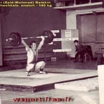 1979 год, Махачкала, чемпионат Юга-России. Первый подход Александра Балакина на 140 кг.