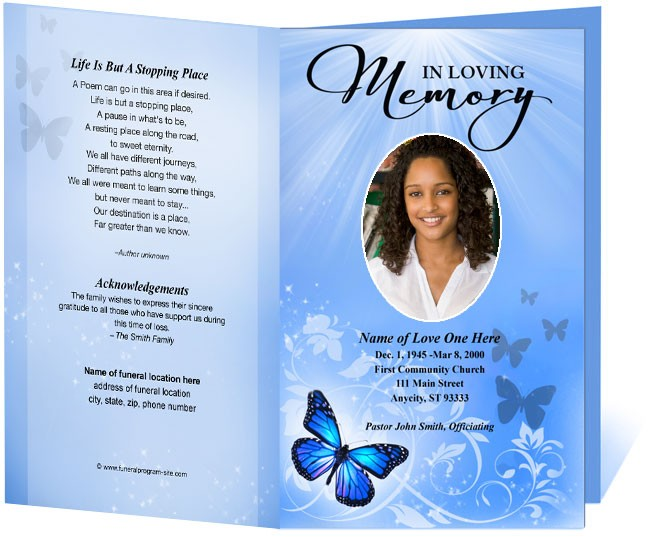 Memorial Service Program Template Shatterlioninfo