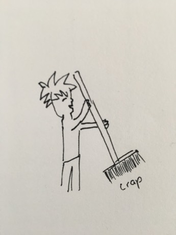 attaching meaning to crap - time to sweep up