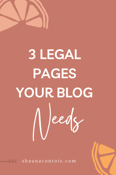 3 legal pages your blog and website needs