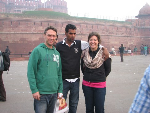 Have your picture taken in from of the Red Fort only to have some creep stroll in and put his arm around you.