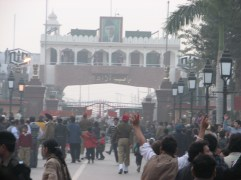Visit the Pakistan / India border near Amritsar and see the closing of the border. Here crowds gather on each side at 4:45pm each day as pump up artists sporting addidas like track suits lead each side in cheers and jeers to exhibit their national pride. Border guards get into a dance off of marches and kicking. Each tried to one up the other. Unfortunately, one Indian guard kicked so high that he fell over backwards so Pakistan might have won this dance off, but it is all in a spirit of fun.