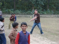 Hit a six in cricket agaist a team of five-year-olds.