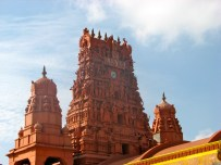 The largest Hindu temple in Jaffna town was recently restored.