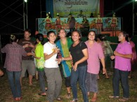 Here we are Isaan dancing at a village party