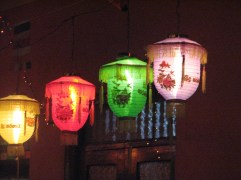 A close up of some lanterns. Much like the patio lanterns made famous by Kim Mitchell in Canada so many years ago.