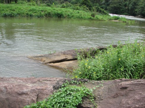 Here's the river where they blew up the bridge.
