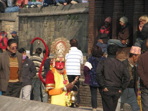This Hindu God was looking for some tips for photos. Trina was very sneaky in getting this snap.