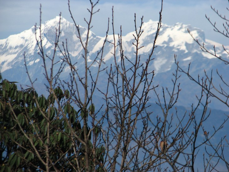 In Nepal, you're never far from views of snow capped mountains.