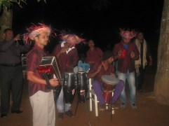 The music teacher even assembled his band so that there was entertainment and dancing.