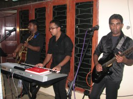This band was jamming the whole night.