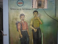 The murals wouldn't be complete without a cigarette ad..