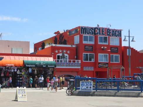 Muscle Beach was just a couple of fat guys applying sunscreen with no shirts on.