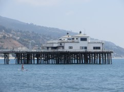 The famous Malibu Pier where surfing pretty much started in North America.