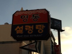 Before the comedy we ate some Korean food at Young Dong. I think we had ox.