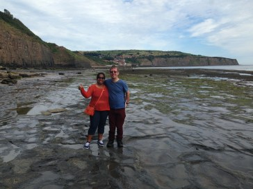 Our hosts Mark and Vindy pose for a shot in Robin Hood's Bay just moments after Shaun rescued Mark from the edge of a cliff (at least that's what he tells me).
