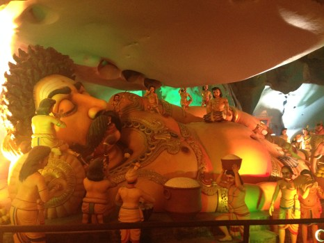 You've got to love the larger than life dioramas inside the caves.